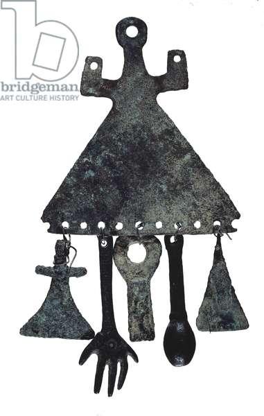 Amulet, from Arca de l'Espina, 1500-1000 BC (bronze)