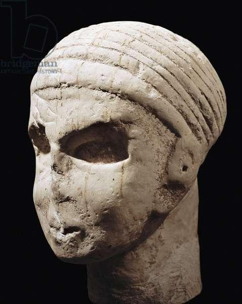 Head, from Khirbet el Hajjar (stone)