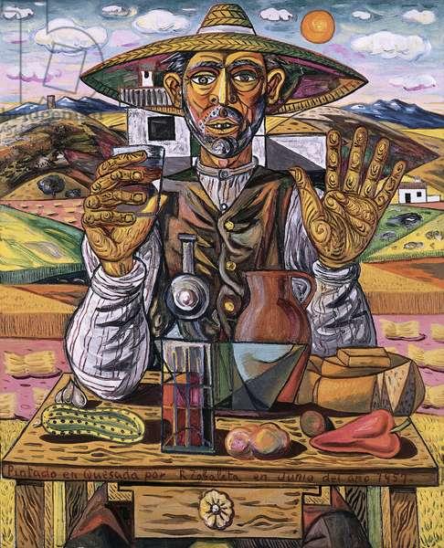 Composition, 1957 (oil on canvas)