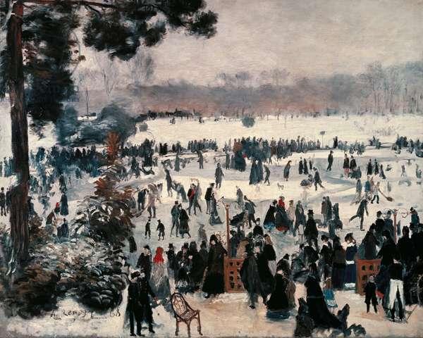 """""""Skaters at the Bois de Boulogne in Paris """" , 1868 (oil on canvas)"""