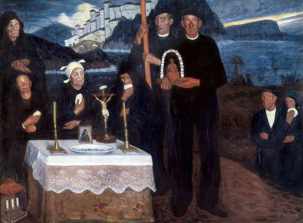 For Victims of the Sea, 1914 (oil on canvas)