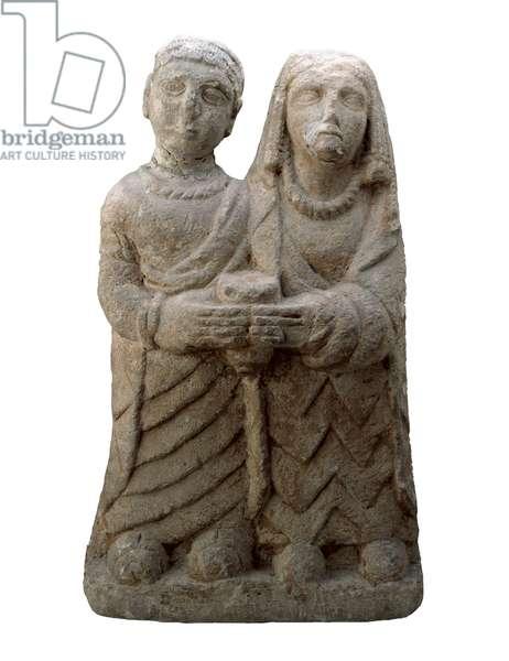 Offering couple, from Cerro de los Santos, Montealegre del Castillo, Albacete (stone)