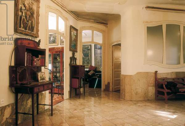 Interior view, 1906-10 (photo)