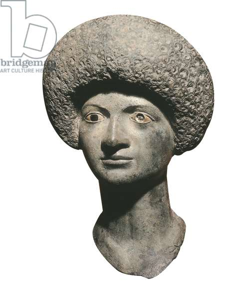 Head of a woman, from Ampurias (bronze)