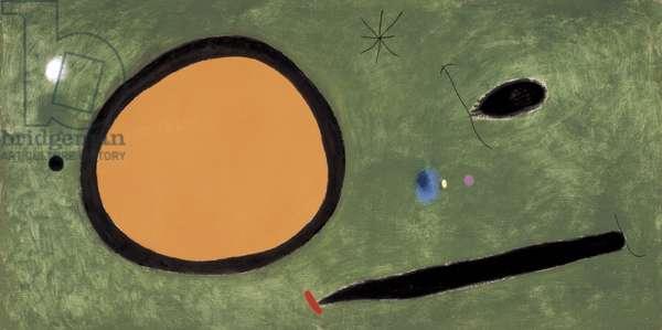 A Bird's Flight Under Moonlight, 1967 (oil on canvas)