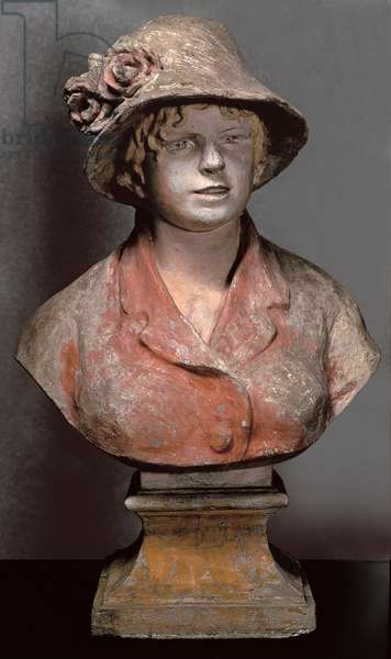 sculpture of Aline Charigot, Mrs. Renoir, c.1900 (polychrome plaster)