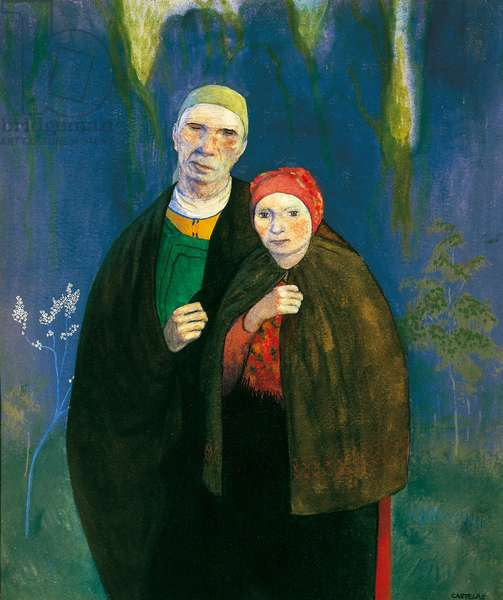 The Blind and the Daughter, early 20th century (watercolour)