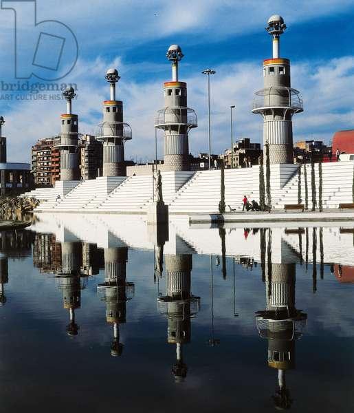 Spanish Industrial Park, designed by Luis Pena Ganchegui and Francesc Rius, 1985 (photo)