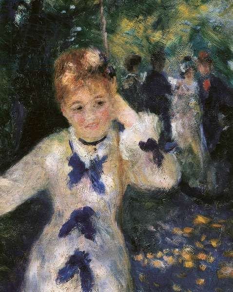 The swing (detail), 1876 (oil on canvas)