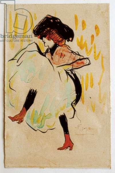 Can Can Dancer, 1901 (w/c on paper)