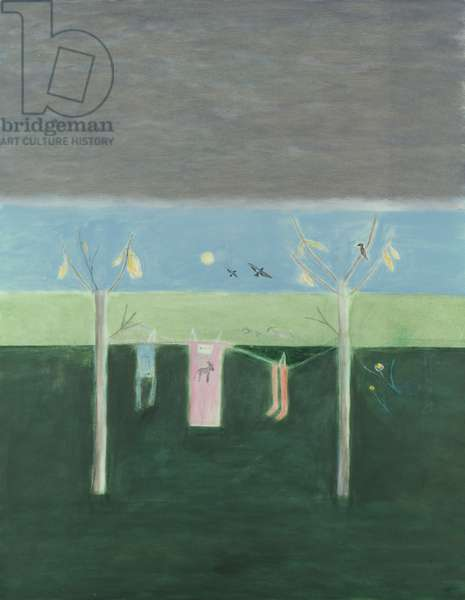 Washing Line in the Winter Montecastelli, 2000 (oil on canvas)