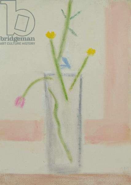 Wild Flowers on Monte Christelli I, 1999 (oil on board)
