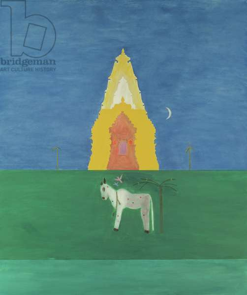 Nandi Bull in Front of Temple I, 1999-2000 (oil on canvas)