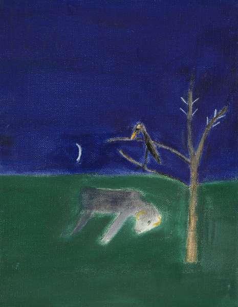 Dead Sheep, 2001 (oil on canvas)