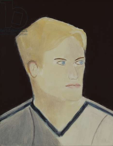 Portrait of a Blond Boy, 2001 (oil on canvas)