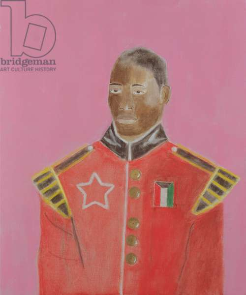 Baba in Scottish Guards Bandsman Uniform, 2001 (oil on canvas)