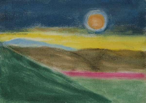 Sunset, Montecastelli 1 (oil on board)