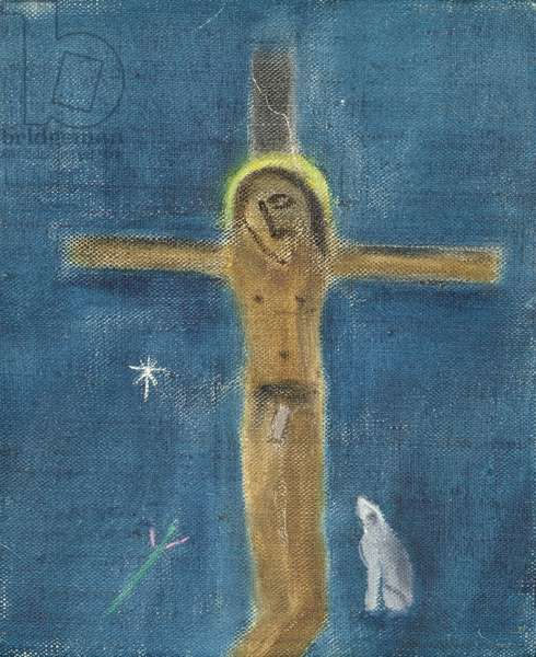 Crucifixion with Dog III, 2001 (oil on canvas)