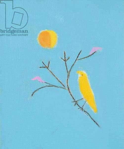 Small Yellow Bird, 2001 (oil on canvas)