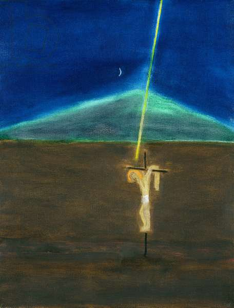 Crucifixion and Mountain, 2004 (oil on canvas)