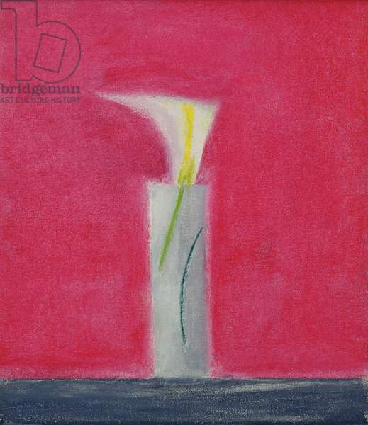 Vase with Lily, 1998 (oil on canvas)