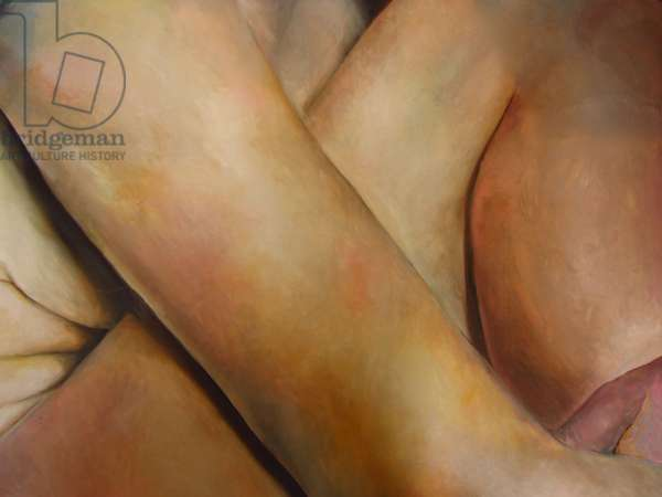 An arm and a leg, 2007, (oil on card)