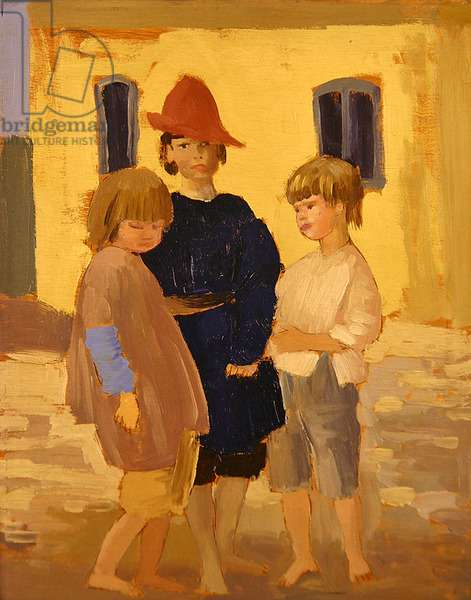 Romilly, Robin and Heath, 1911 (oil on panel)