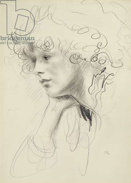 Study of an unknown woman (pencil on paper)