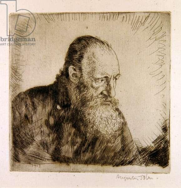 Old Scott, 1906 (etching)