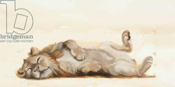 Lion roll, 2012, (Oil on canvas)