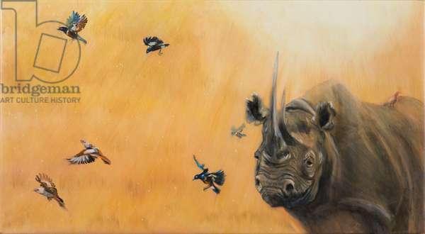 Black Rhino, 2018, oil on canvas