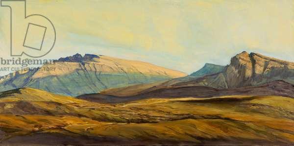 skye landscape,Quaraing,  2016, (oil on canvas)