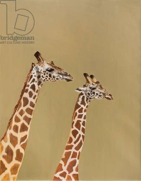 Giraffe pair, 2018 oil on canvas