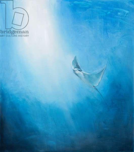 Eagle ray, 2017 oil on canvas