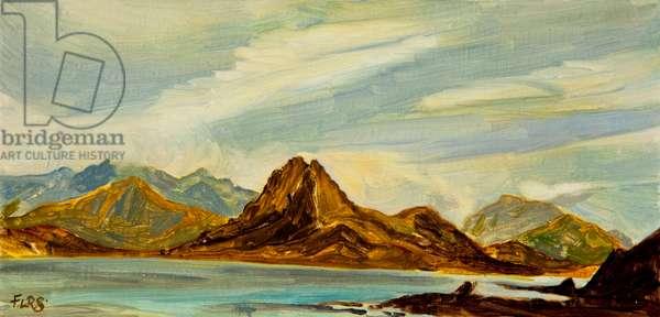 Skye landscape, 2016, (oil on canvas)