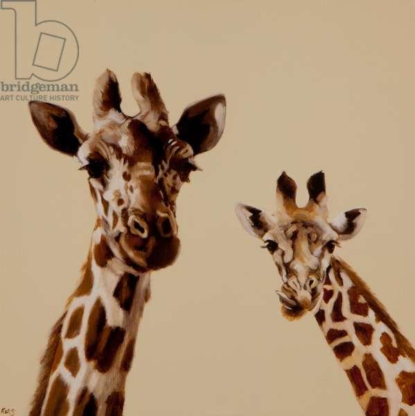 Giraffe pair, 2013, (oil on canvas)