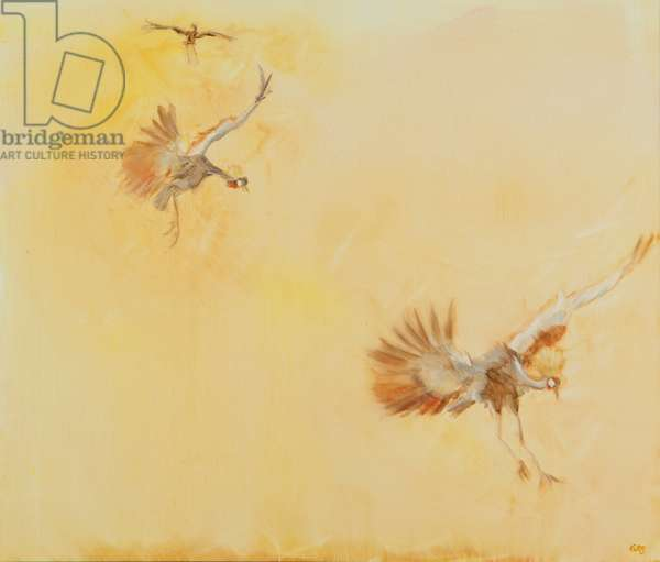 crowned crane, 2014 (oil on canvas)