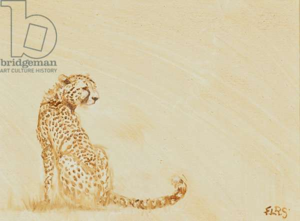 cheetah in monochrome, 2015, (oil on canvas)