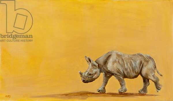 rhino, 2013, oil on canvas