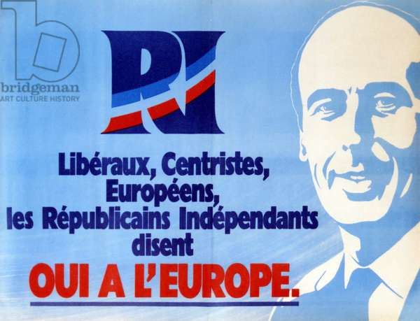European Economic Poster (EEC) of 23 April 1972, referendum on the enlargement of the Community, with Valerie Giscard D'Estaing