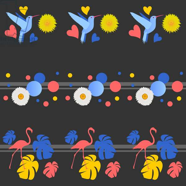 Birds, Flowers, Spots and Stripes