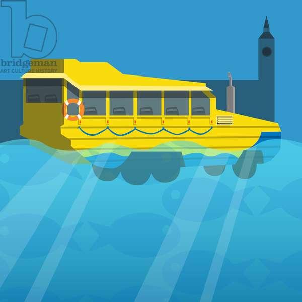 Amphibious London Duck Tour Bus