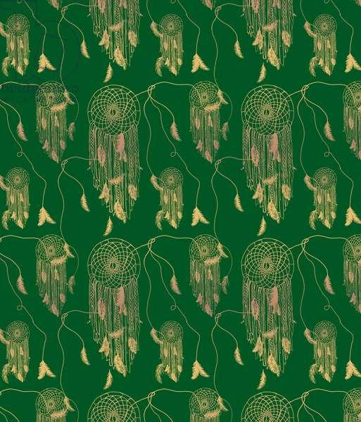 Green Dream Catcher, 2014, (photoshop)