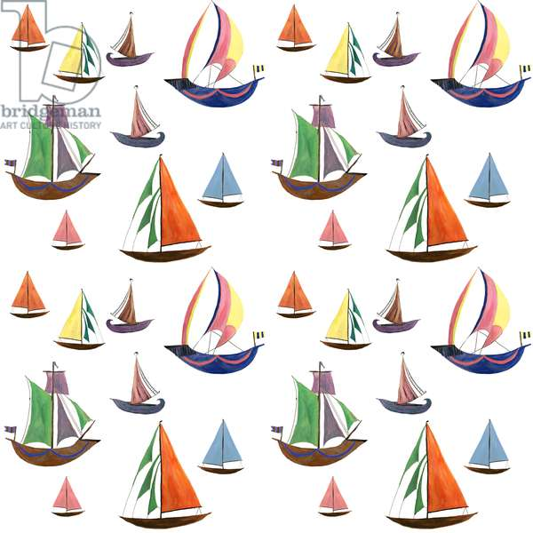Boats, 2017, (watercolour and gouache on paper)