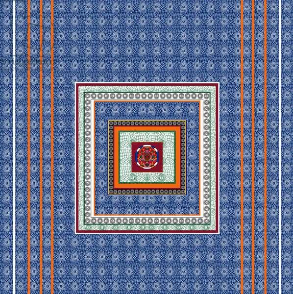 Tile Blue, 2014, (ink on paper)