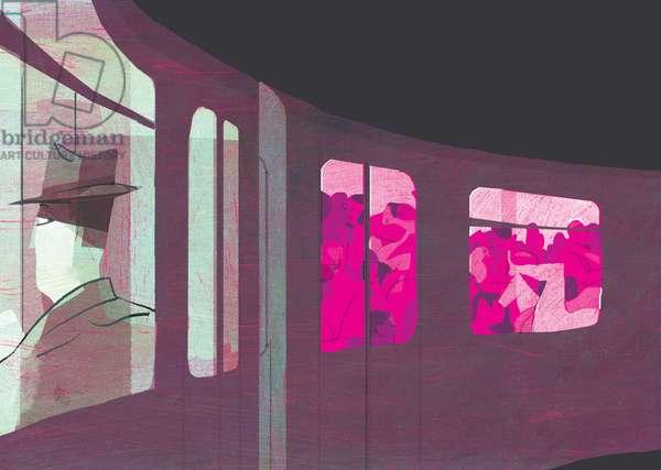 The O Train, 2016, (mixed media)
