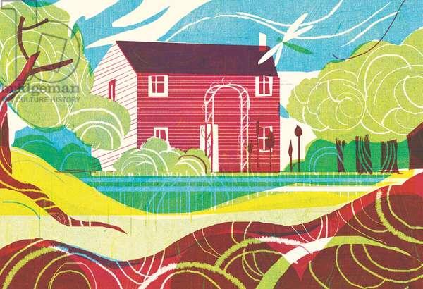 Cottage, 2010, (mixed media)