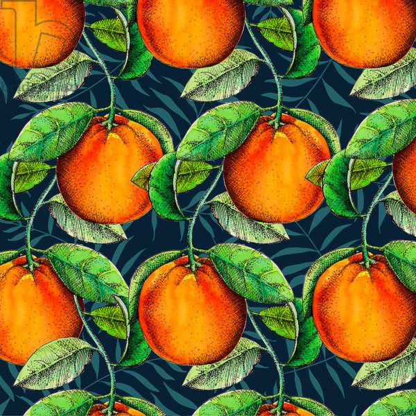 Andalucian Oranges, 2017 (Watercolour and ink)