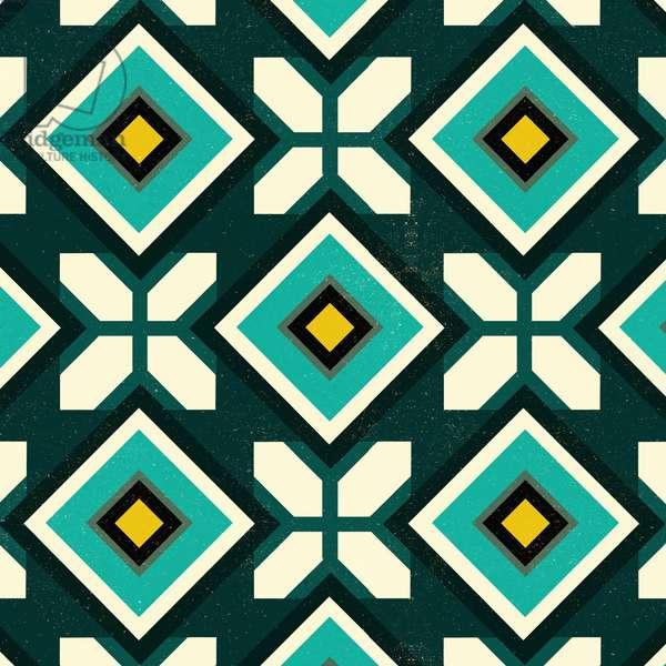 Green Spanish tile, 2018 (digital)
