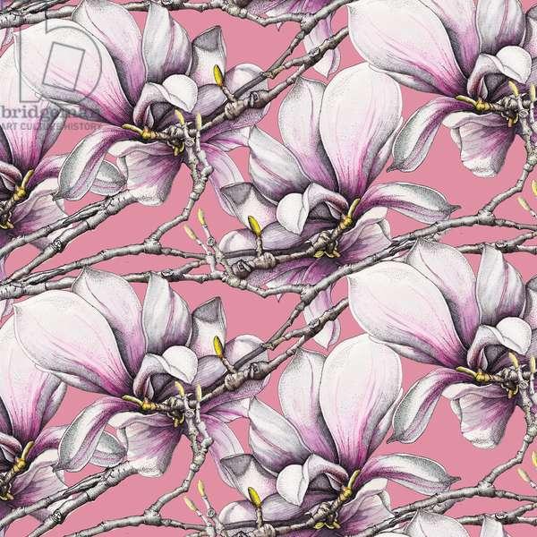 Magnolia, 2019 (watercolour, pen)